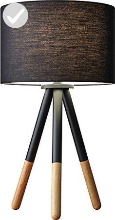"Adesso 6284-01 Louise 21.5"" Table Lamp, Black, Smart Outlet Compatible - Unique lighting lamps (*Amazon Partner-Link)"
