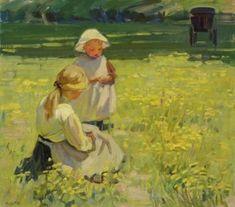 Helen Galloway McNicoll (Canadian, 1879 - 1915):Buttercups(c. 1910) (viaNational Gallery of Canada)  #Helen Galloway McNicoll#Helen McNicoll#