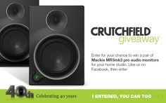 Find out more about the Mackie studio monitors on Crutchfield Pro Audio Speakers, Great Speakers, Monitor Speakers, Giveaway, Universe, Website, Nice, Random, House