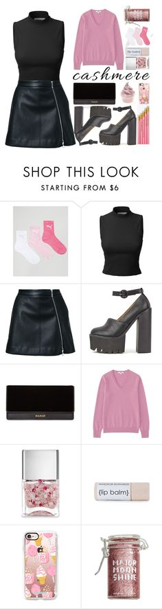 """""""cashmere sweaters]"""" by zorionxx ❤ liked on Polyvore featuring Puma, Guild Prime, Balmain, Uniqlo, Nails Inc., Casetify and Major Moonshine"""
