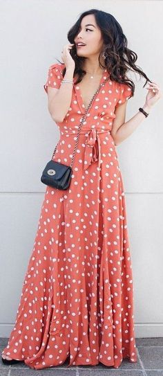 Polka Dot Maxi Dress Source