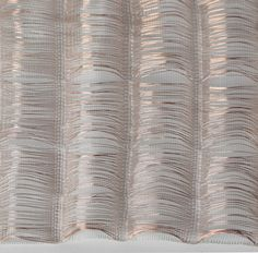 Experimental weaving with metallic thread for fine textures; woven textiles design // Shinyoung Kang