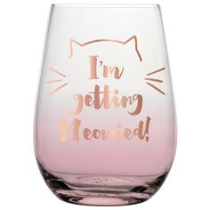 20oz Stemless Wine I'm Getting Meowied