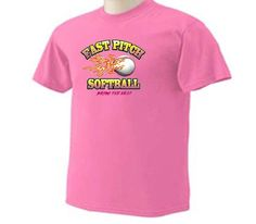 Neon Fastpitch Softball Bring The Heat Girls Softball Sport T-Shirt by TeeDesignsbyVR on Etsy