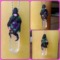Sakura Crystal Pendant by JenstoneCreations on deviantART