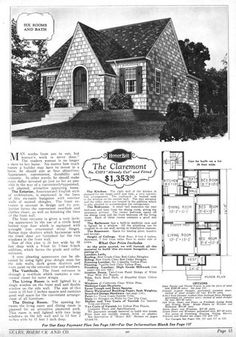 Sears riverside english cottage style 1930s kit homes for Riverside house plans
