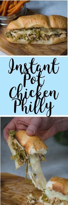 Instant Pot Chicken Philly Cheesesteak