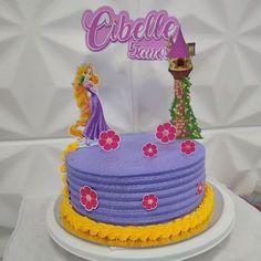 Bolo Rapunzel, Fondant Cakes, Cake Decorating, Birthday Cake, Party, Desserts, Decor Ideas, Food, Birthday Cakes
