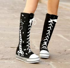 Ladies Sweet Cute Lace Up Zipped Plimsolls Mid Calf Boots Shoes Plus Size S326 | eBay
