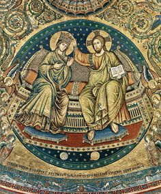 Jacopo Torriti : Coronation of the Virgin 1296 (completed) Mosaic Santa Maria Maggiore, Rome