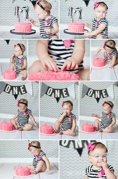 First birthday, cake smash, Smash Cake photo session  A New Take on the Cake….Smash ~ Idaho Baby Photography | Parma, Idaho