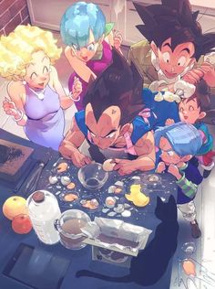 all z son goku bulma vegeta son goten trunks (dragon ball) mrs. briefs supobi high resolution very high resolution ^ ^ anger vein ass ass grab baking bent over bird black cat black hair blonde blue hair bottle bowl box bra Dragon Ball Gt, Anime Manga, Anime Art, Anime Soul, Akira, Manga Dragon, Z Arts, Fangirl, Character Art