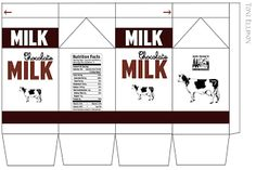 Miniature Printables - Chocolate Milk Carton.