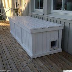 altan,katthus,dynbox Wood Shop Projects, Plank, Outdoor Furniture, Outdoor Decor, Pergola, Patio, House, Essie, Home Decor
