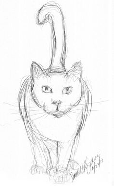 Easy animals to sketch free easy animal sketch drawing ideas inspiration brighter craft learn how to . easy animals to sketch Sketch Free, Cat Sketch, Human Sketch, Girl Sketch, Pencil Art Drawings, Drawing Sketches, Drawing Ideas, Easy Cat Drawing, Pencil Sketching