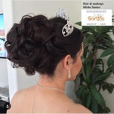 Quince Hairstyles Custom 20 Absolutely Stunning Quinceanera Hairstyles With Crown  Pinterest