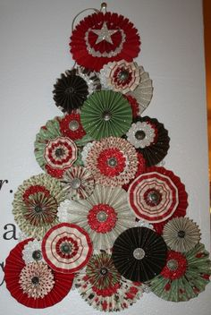 made from paper rosettes