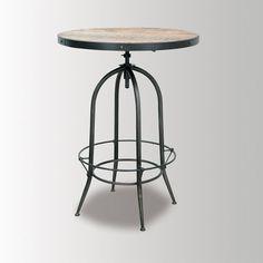 Footrest Pub Table #industrial #wood