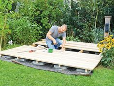 Terrassendielen verlegen Front Garden Ideas Driveway, Pergola, Wood, Diy Academy, Outdoor, Home Decor, Bricolage, Diy Deck, Backyard Patio