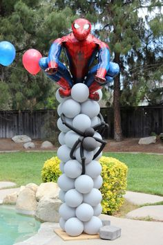 Spider-Man with Spider Crawling on Pole All Out Ballooning