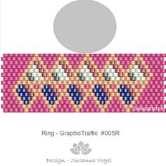 DETAILS: GraphicTraffic #005R  Peyote ring pattern - The ring-length is adjustable. Size: 2,0 cm x 5,7 cm / 0.79 x 2.23 - odd count Beads: Miyuki Delica 11/0    >>>>>>>>>>>>> Coupons-codes: <<<<<<<<<<< 10% discount code: 10PERCENTOFF (Minimum Purchase: € 15,00) 15% discount code: 15PERCENTOFF (Minimum Purchase: € 20,00) 20% discount code: 20PERCENTOFF (Minimum Purchase: € 25,00) 25% discount code: 25PERCENTOFF (...