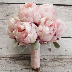 Romantic silk bouquet! Blush pink peony bouquet by Kate Said Yes Weddings, www.katesaidyes.etsy.com