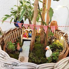 Ines Felix - Kreatives zum Nachmachen: Minigarten unterm Baum