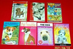 7 Dog Puppy Animal Chapter Books 2nd 3rd 4th Grade Dachshund Jack Russell Lab Boxer, Puppy School, Bad To The Bone, Animal Books, Chapter Books, Animals For Kids, Good Books, Dogs And Puppies, Lab