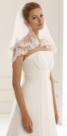 Beautiful veil S134 from Bianco Evento #biancoevento #veil #weddingdress #weddingideas #bridetobe