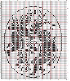 Cross Stitch Angels, Cross Stitch Rose, Crochet Skull Patterns, Cross Stitch Patterns, Tablecloth Curtains, Crochet Placemats, Fillet Crochet, Crochet Diagram, Embroidery Techniques