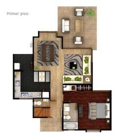 primer piso CASA de DOS PISOS de más de 100 M2
