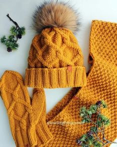 Crochet Hat And Scarf Set Pattern Ideas Hat And Scarf Sets, Scarf Hat, Crochet Cap, Knitted Gloves, Easy Knitting, Knitting Projects, Knitting Patterns, Creations, Beanies