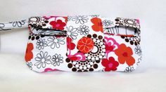 Cosmetic Bag Makeup Bag Organizer bag Wristlet Clutch by ClemmieVs