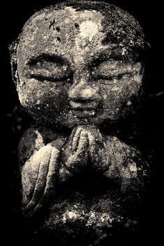 small buddha statue in Kyoto, Japan