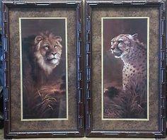 Set Of 4 Pictures Elephant Zebra Giraffe Cheeta Leopard Animal Black Frames  | Giraffe/Safari Decor | Pinterest | Leopard Animal, Themed Rooms And Room