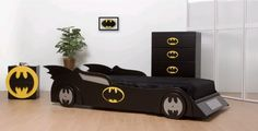 Batcave kids room decor.
