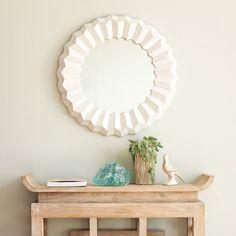 White Mosaic Mirror