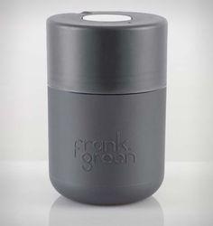 Frank Green 8oz SmartCup Reusable Coffee Cup Titanium Base/Titanium Lid