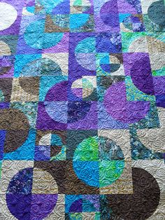 Circles | Pieced by Pam Matthews Quilted by Jessica's Quilti… | Flickr