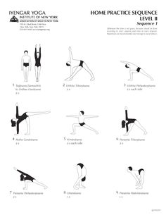 Home Practice Sequence Level II Sequence 1 | Iyengar Yoga Institute of New York