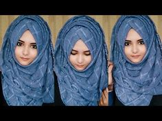 Discover recipes, home ideas, style inspiration and other ideas to try. Simple Hijab Tutorial, Hijab Style Tutorial, Easy Hijab Style, New Hijab Style, Hijab Fashion Inspiration, Mode Inspiration, Hijab Styles For Party, Pashmina Hijab Tutorial, How To Wear Hijab