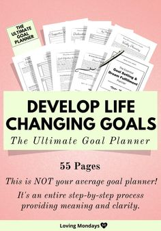 This goal planner will help you take a big picture view of your life. It's not your ordinary goal planner! It takes you through a step-by-step process to help you develop the perfect goals. Goals Planner, Life Planner, Happy Planner, Planner Ideas, Goal Journal, Bullet Journal Goal Setting, Goal Setting Worksheet, How To Move Forward, The Embrace