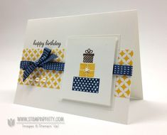 Stampin up stampinup pretty stamp it mary fish birthday card making idea wishing you - Happy Birthday