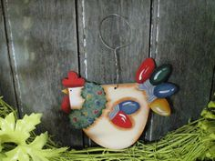Funky Christmas Chicken with Lights Etsy Christmas, Christmas In July, Christmas Items, Christmas Lights, Gnome Ornaments, Holiday Ornaments, July Crafts, Crafts To Sell, Art For Sale