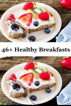 Healthy Breakfast Ideas & Recipes: Easy Meals for Busy Mornings - Healthy Food breakfast - Healthy Meal Prep, Healthy Breakfast Recipes, Breakfast Ideas, Healthy Recipes, Free Breakfast, Nutritious Snacks, Healthy Snacks, Clean Eating Snacks, Brunch