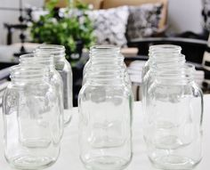 Etched Monogram Mason Jars DIY