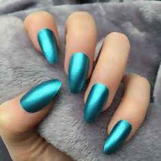 Chrome Aqua Coffin – Doobys Nails