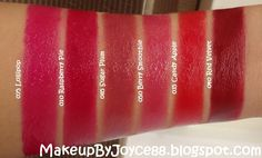 candy apple red lipstick | also have 6 nude shades of the Revlon Lip Butters that I will swatch ...