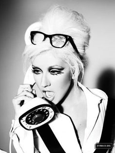 Christina Aguilera's makeup Glam Black & White Photography ❥|Mz. Manerz: Being well dressed is a beautiful form of confidence, happiness & politeness