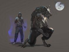 Werewolf male by oakenvial.deviantart.com on @DeviantArt